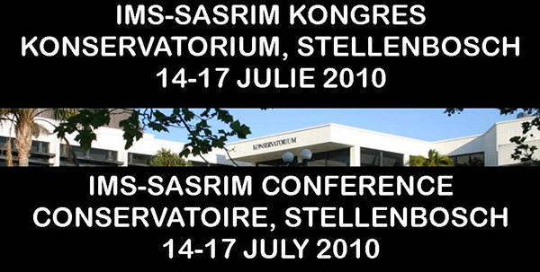 IMS-SASRIM 4th Conference 2010